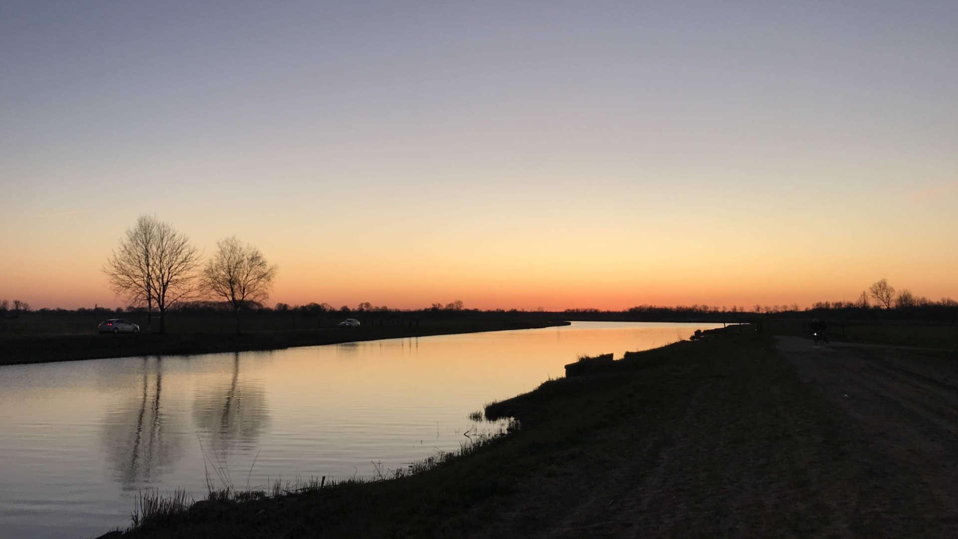 zonsondergang hoogeveense vaart meppel